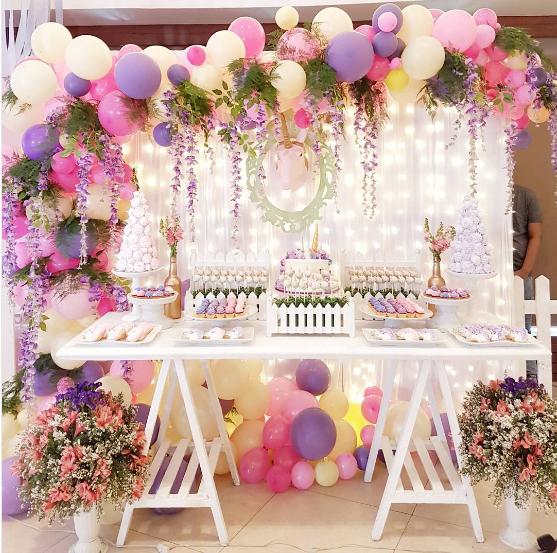 Bouquet de globos para mesas de postres