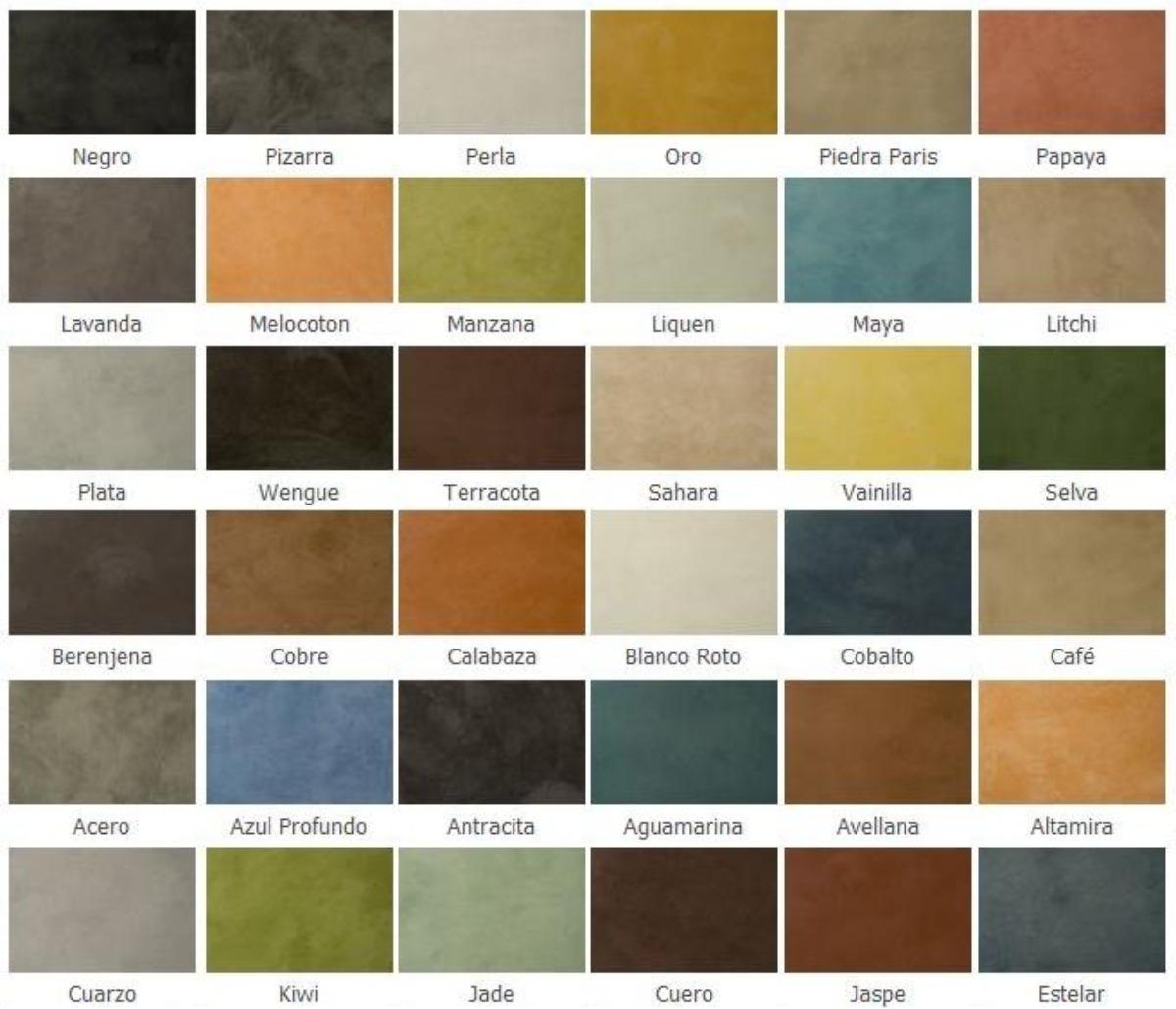 cemento pulido colores