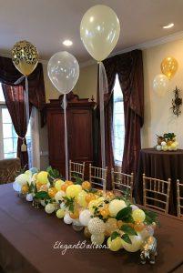 Centros de mesa con bouquet de globos