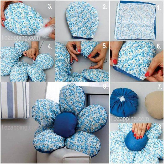 Crea tus propias almohadas y almohadones patrones y paso a paso - Hacer cojines para sillas ...