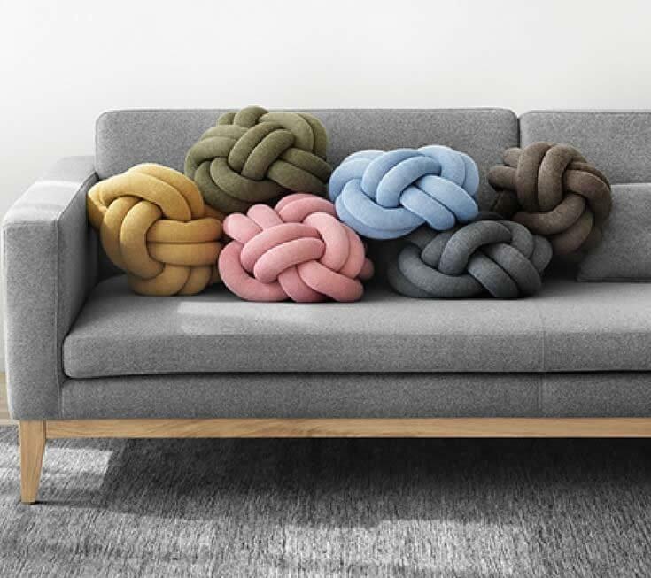 Crea tus propias almohadas y almohadones patrones y paso a paso - Hacer cojines de punto ...