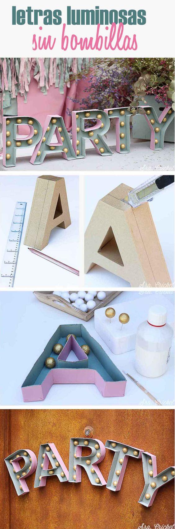 Como hacer letras gigantes de cartón