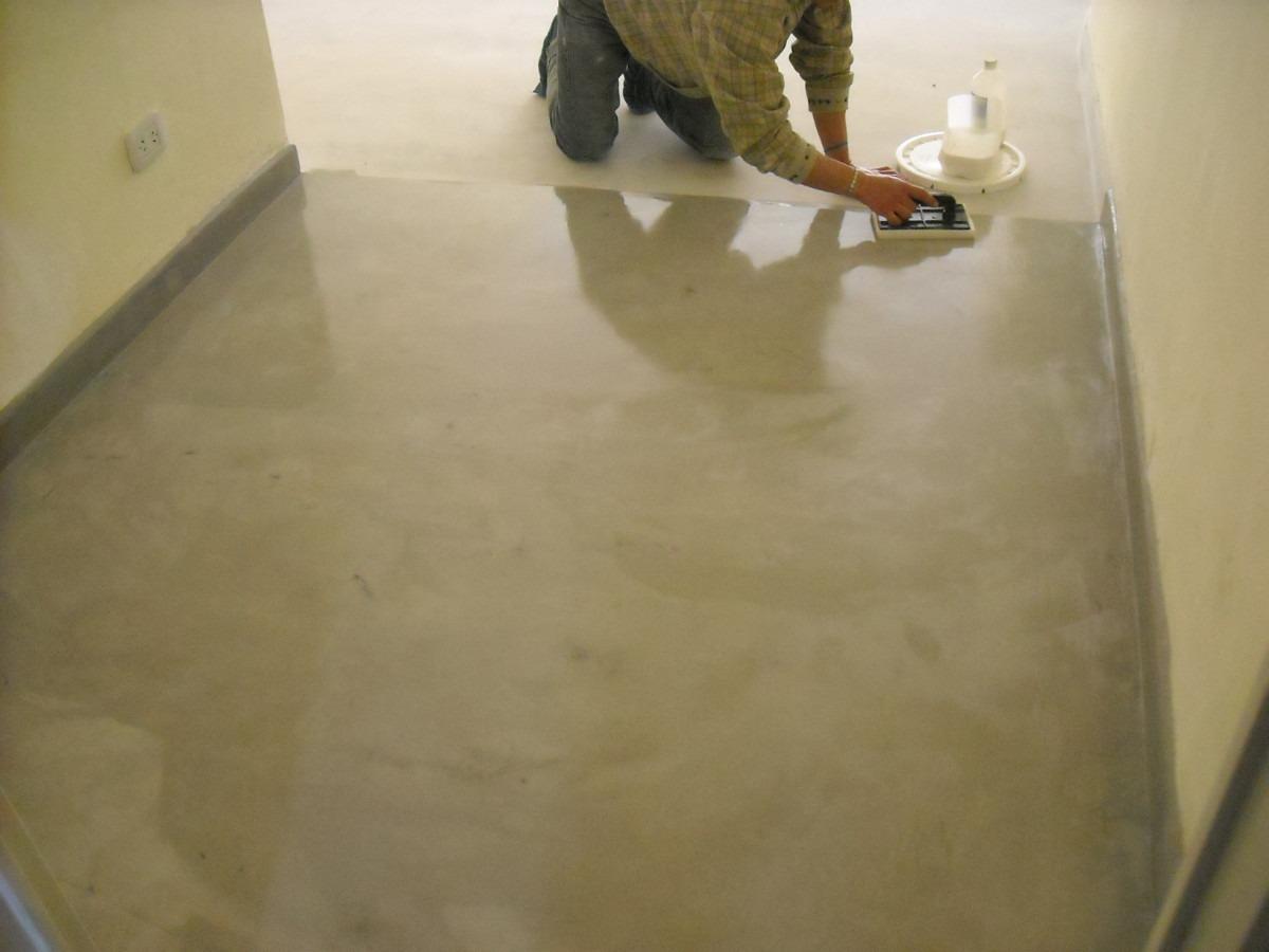 como se hace el piso de cemento alisado