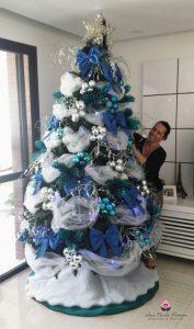 decoraciones de arboles de navidad en azul 2018
