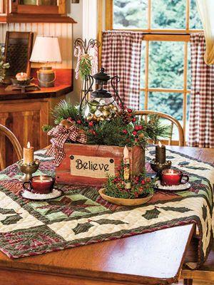 adornos navideños para casas de campo
