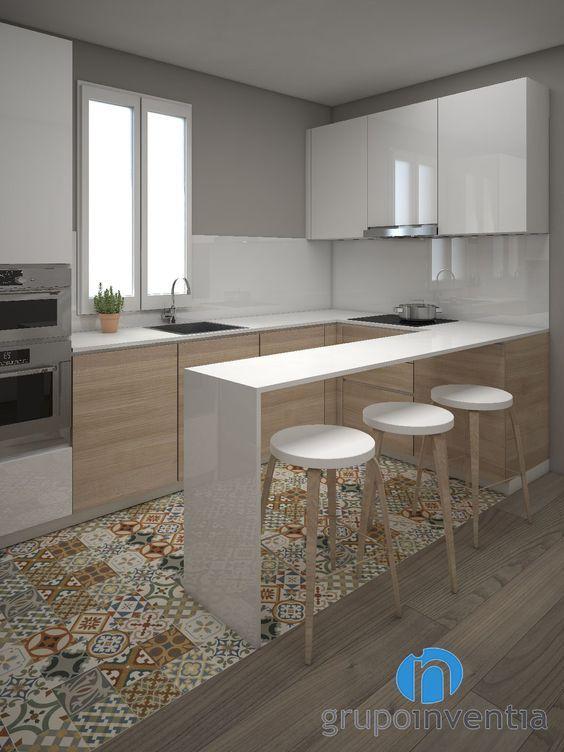 colores para piso de la cocina