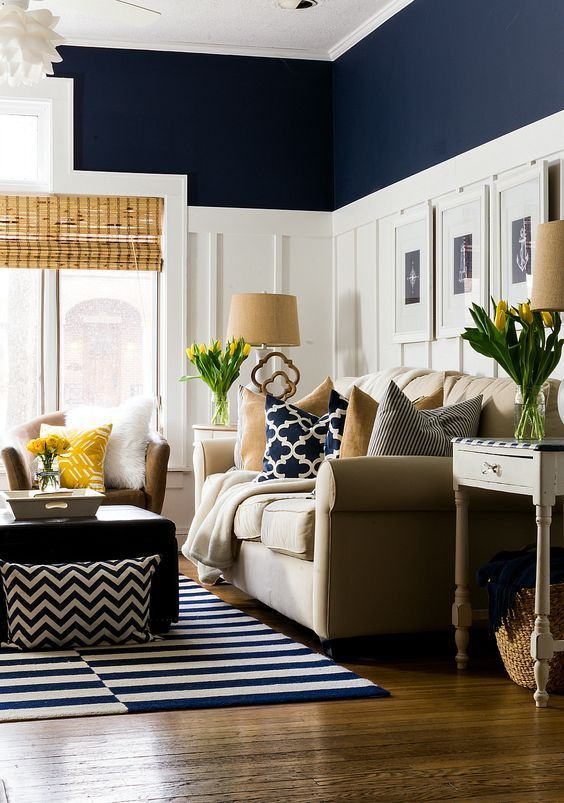 Colores que combinan para decorar salas de estar