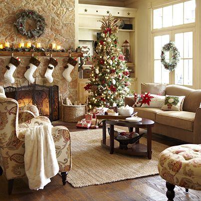 como decorar casa de campo en navidad