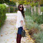 Como usar botas largas con jeans