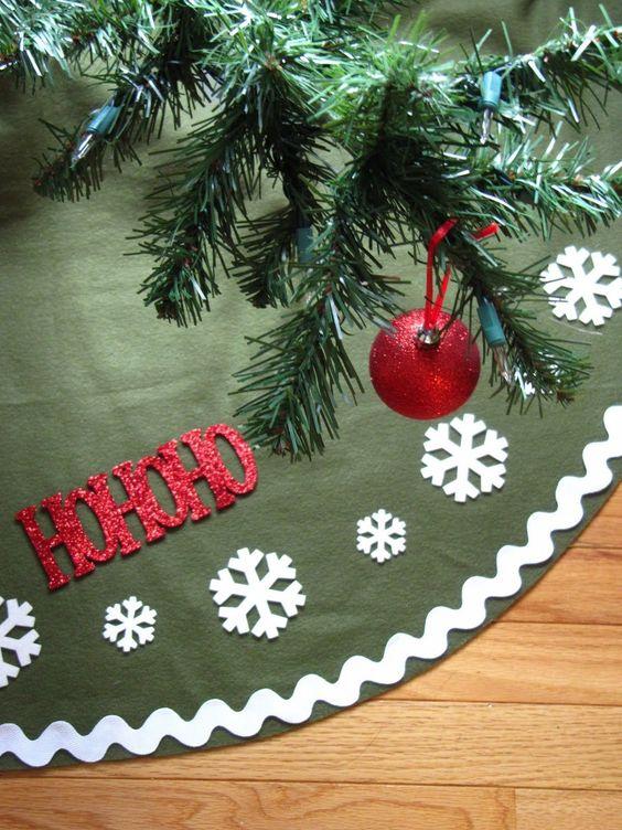 Curso para hacer pies de árbol navideños