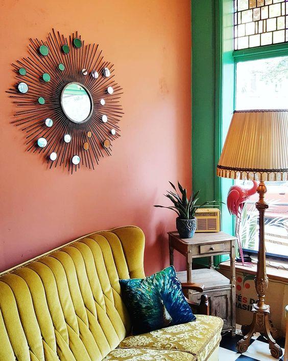 Decoración de salas con espejos originales