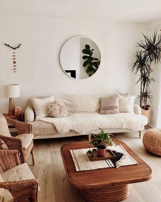Decoraci n de salas con espejos tendencias en decoraci n for Espejos redondos para decoracion