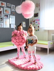 Imágenes de tapetes de pompones