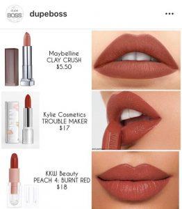 Materiales para maquillar labios