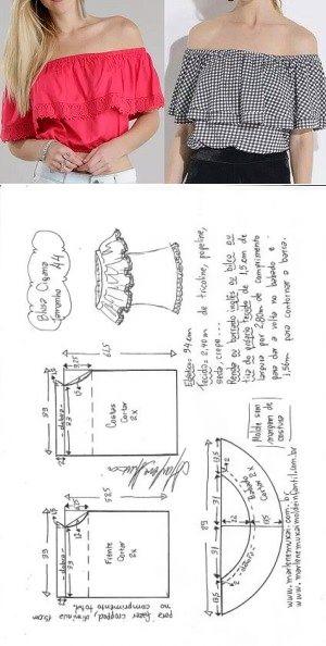 Moldes para blusas de moda