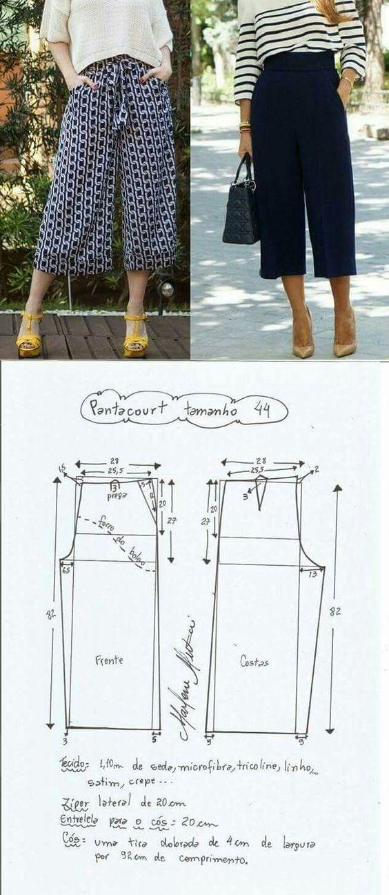 Moldes para pantalones de moda