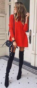 Outfits con botas largas negras