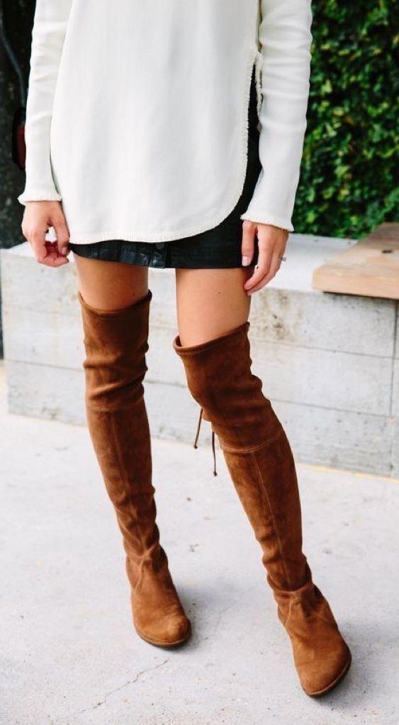 Outfits con botas largas sin tacón