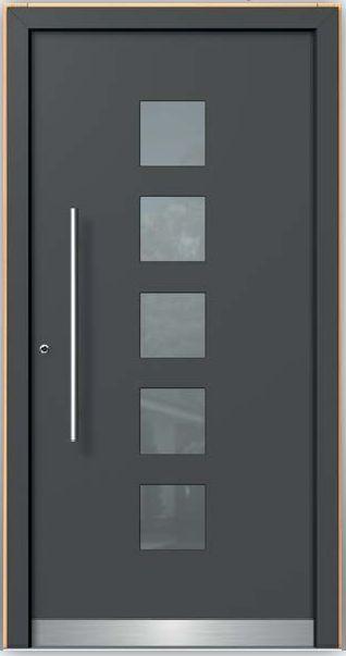 Puertas de aluminio negro