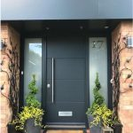Puertas de aluminio negro con vidrio