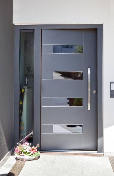 Puertas principales de aluminio modernas archivos curso for Puertas de entrada de casas modernas