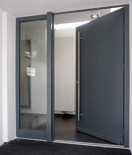 Puertas principales de aluminio modernas