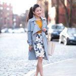 ropa para ir a trabajar mujer joven con falda