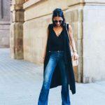 ropa para ir a trabajar mujer joven con jeans