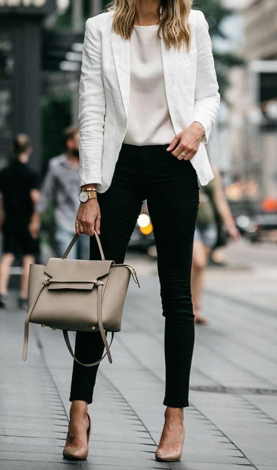 Ropa Para Trabajar En Oficina Mujer Joven Look Con Falda Vestido O Jeans