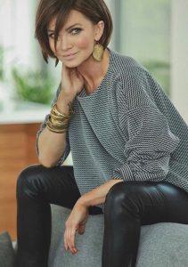 cortes de cabello corto para mujeres de 40 años cara redonda