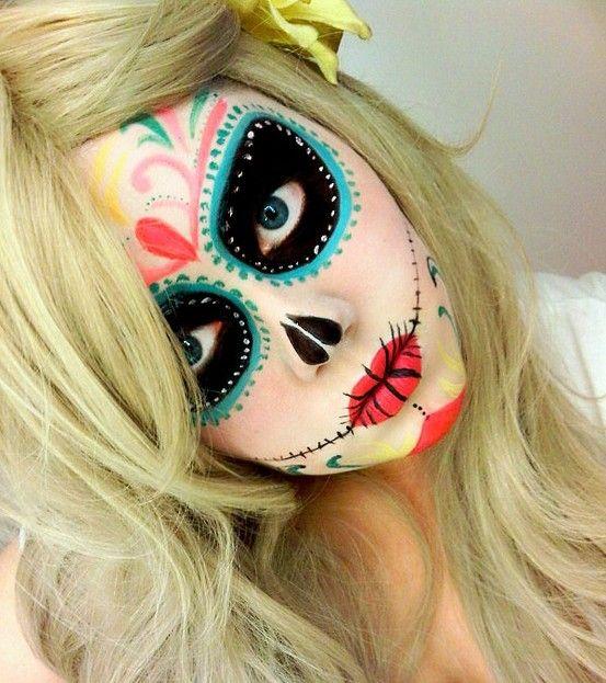 Maquillaje De Catrina Facil Y Bonito Curso De Organizacion Del Hogar Y Decoracion De Interiores