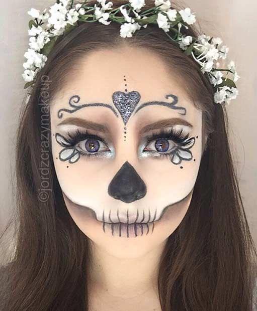 maquillaje de catrina halloween