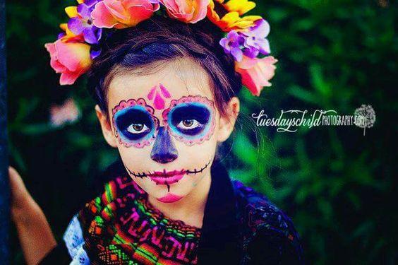 maquillaje de catrina para niña