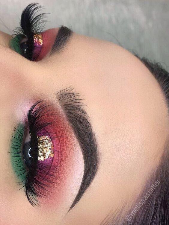 maquillaje en colores mexicanos