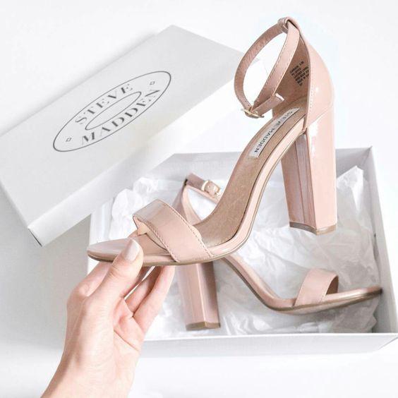 zapatos de tacon cuadrado 2018
