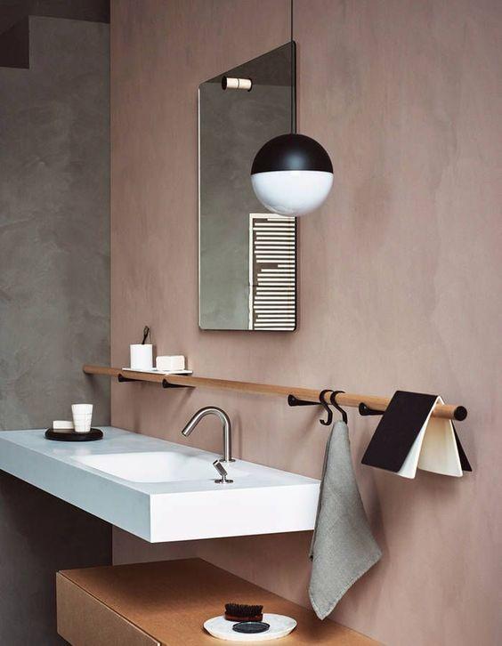 toalleros para baño de madera