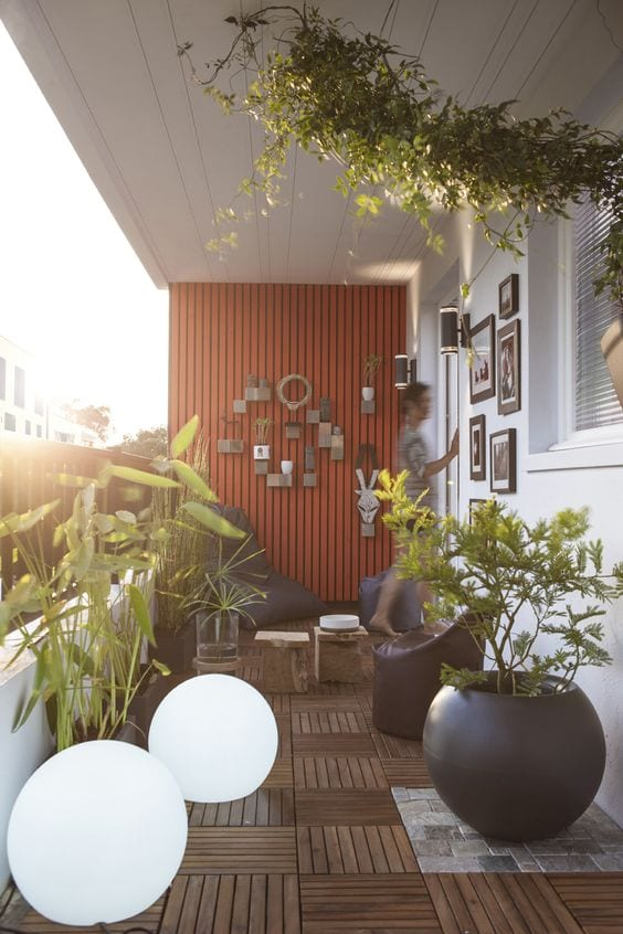 Accesorios decorativos para balcones pequeños
