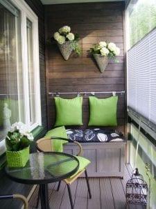Colores para decorar balcones pequeños