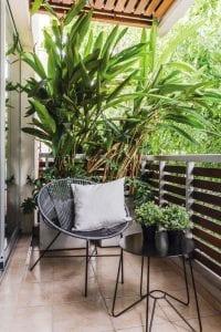 Decoracion de balcones pequeños con plantas