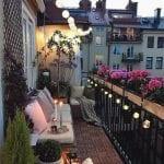 Imágenes de decoración de balcones pequeños