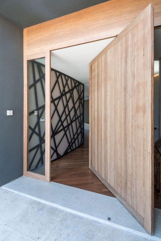 modelos de puertas de madera modernas