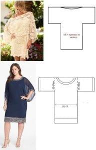 patrones de vestidos casuales para gorditas