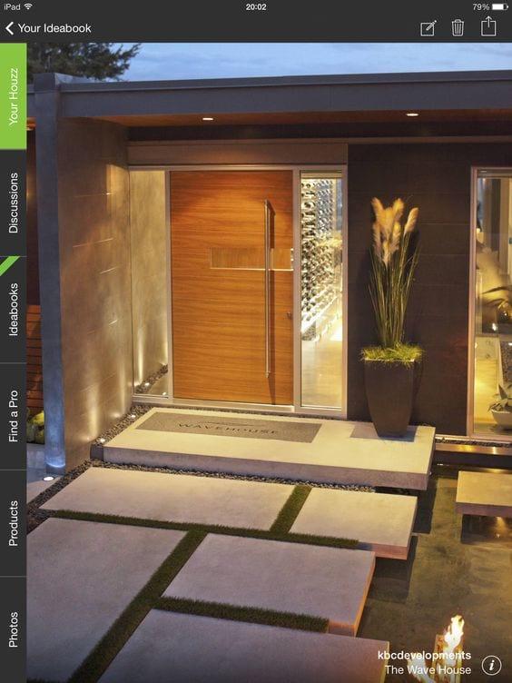 puertas de madera modernas para entrada principal