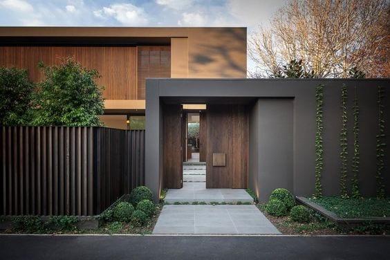 puertas de madera modernas para exterior