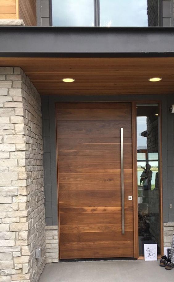 Puertas de madera modernas tendencia en modelos 2019 2020 for Puertas de entrada de casas modernas