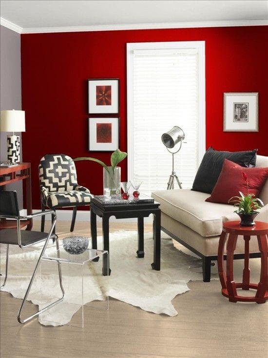 Salones en color rojo