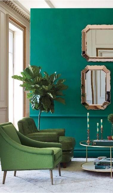 Salones en verde turquesa