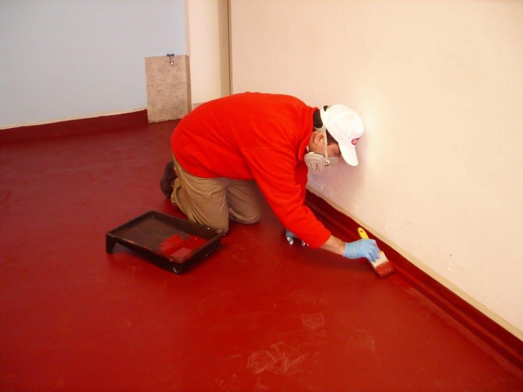 como pintar un piso de cemento alisado