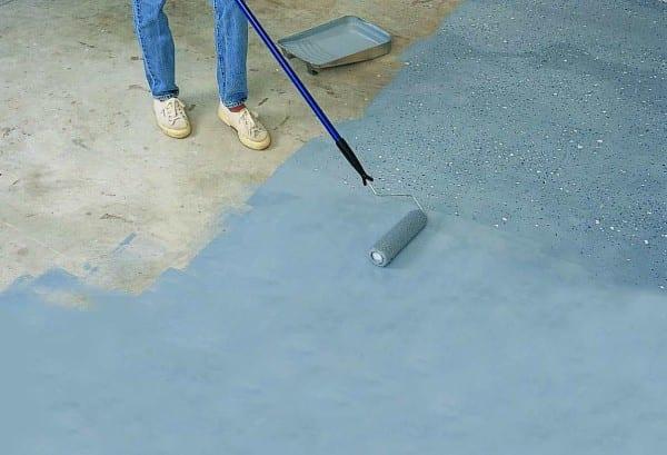 como pintar un piso de cemento rustico