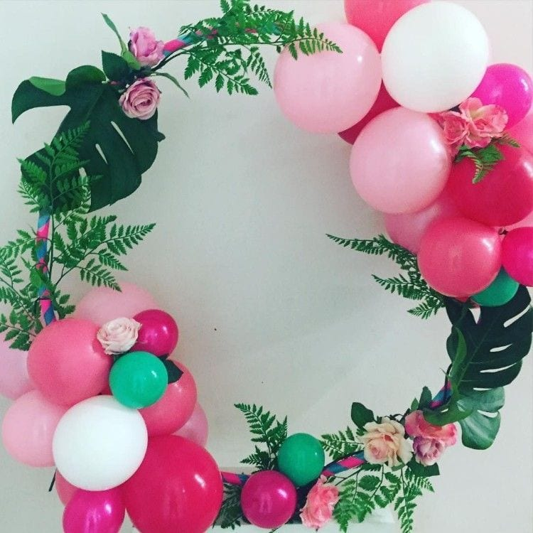ideas para decorar fiestas con aros de hula hula